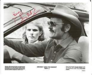 Jerry Reed signed dedicated 8 x 10 b/w publicity photo