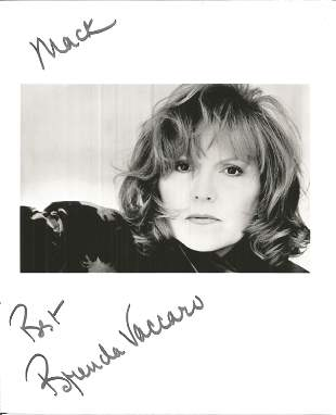 Brenda Vaccaro signed dedicated 8 x 10 b/w photo in