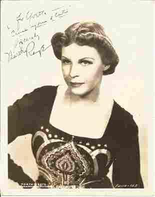 Martha Raye signed dedicated 8 x 10 b/w photo in very