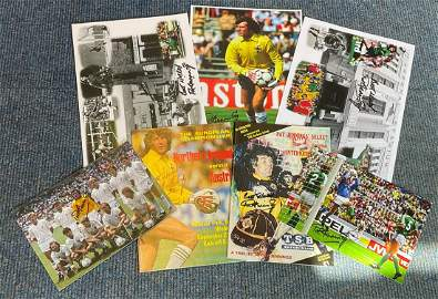 Football Pat Jennings collection includes 5 signed