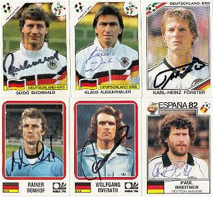 Autographed Panini World Cup Story Stickers, All
