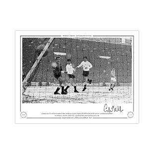 Autographed Colin Bell Limited Edition 16 X 12 - B/W,