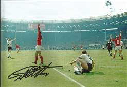 Football Geoff Hurst signed 12x8 colour photo pictured
