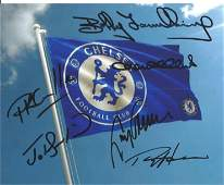 Football Chelsea legends multi signed 10x8 colour photo