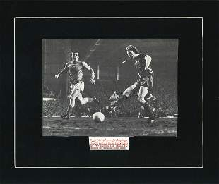 David Fairclough signed 12x10 mounted black and white