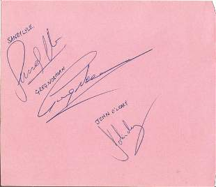 Golf Arnold Palmer signed 6x5 album page signed on