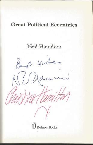 Neil Hamilton & Christine Hamilton Authors Signed 1999