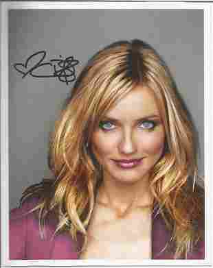 Cameron Diaz signed 10x8 colour photo. Good condition.