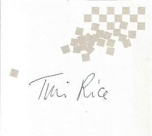 Tim Rice signed album page. Sir Timothy Miles Bindon