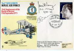 Battle of Britain. No17 Squadron RAF cover signed by