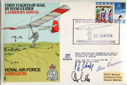 WW2 aces. RAF cover signed by German U-Boat wagtail