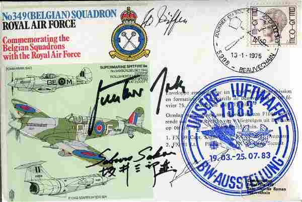 WW2 aces. RAF cover signed by Japanese ace Saburo