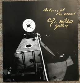 Apollo 14 Moonwalker Dr Edgar Mitchell signed 12 x 12