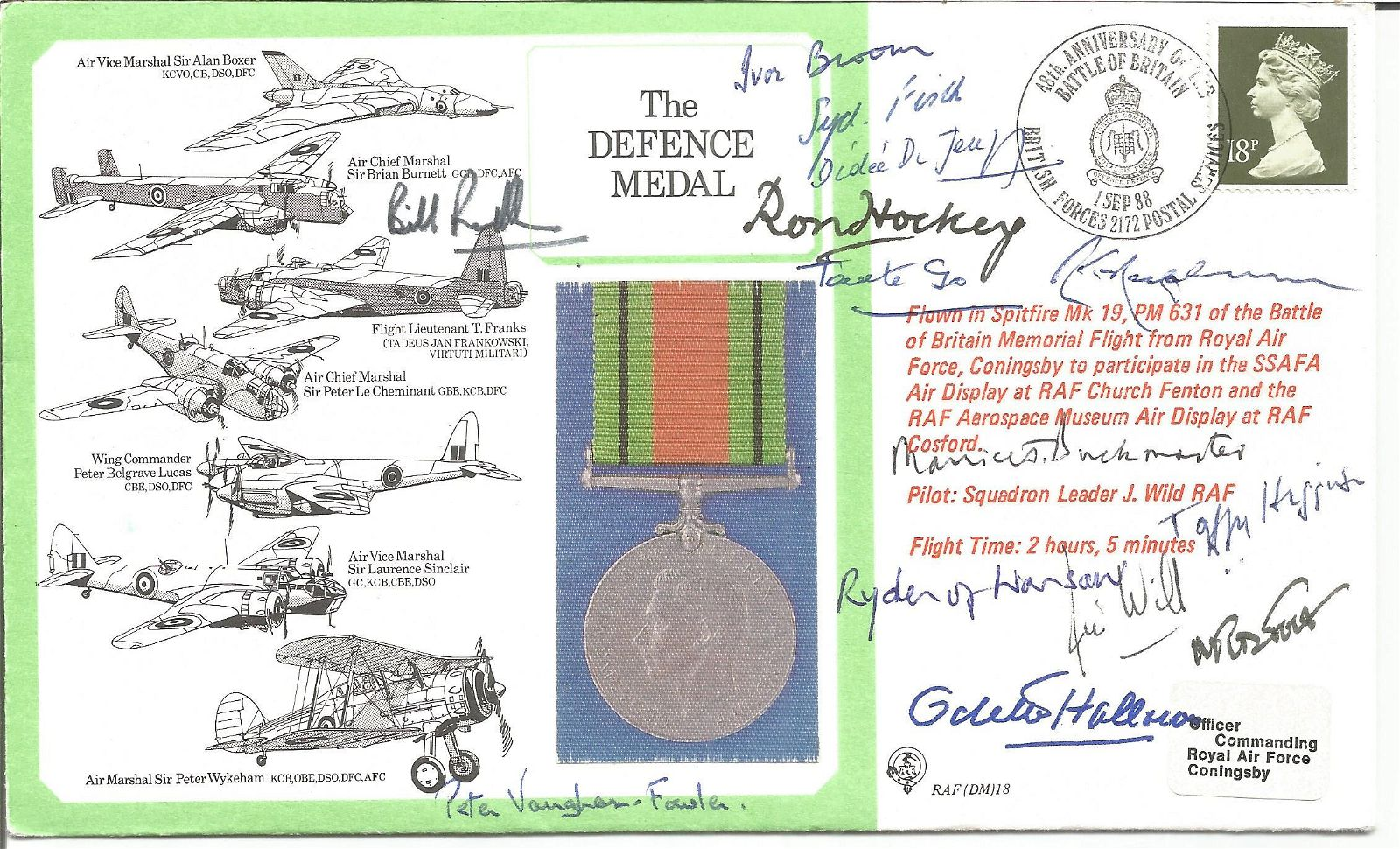 WW2 Rare multiple signed cover celebrating the Defence