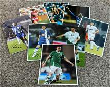 Football collection 8 assorted signed colour photos