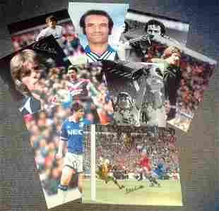 Football collection 9 fantastic, signed photos includes