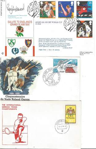 A Group of 3 Sports FDC, Including Salute to Englands