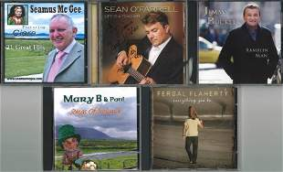 A Selection of Five Signed CDs, Jimmy Buckley, Sean