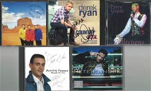 A Selection of Five Signed CDs, Derek Ryan, Perry