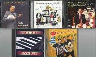 A Selection of Five Signed CDs, A mixture of Organ &