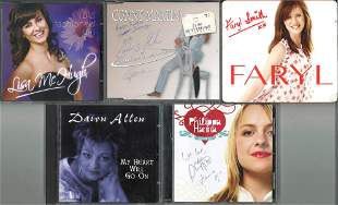 A Selection of Five Signed CDs, Dawn Allen, Philippa