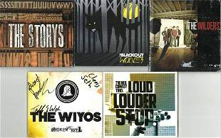 A Selection of Five Signed CDs, The Storys, The