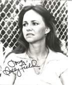 Sally Field signed 10 x 8 inch b/w early portrait