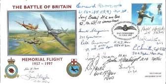 WW2 Battle of Britain pilots multiple signed BOB