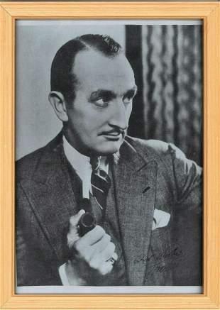 Tom Wallis signed black and white photo. Framed to