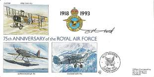 Tony Theobald cover artist signed 75th ann RAF cover.
