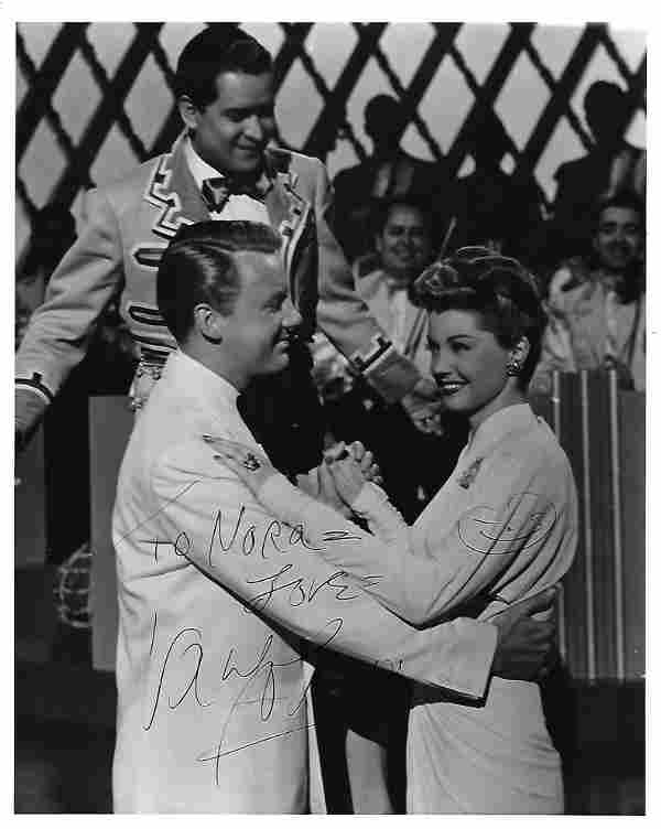 Van Johnson Signed 10 x 8 inch b/w photo from Thrill of
