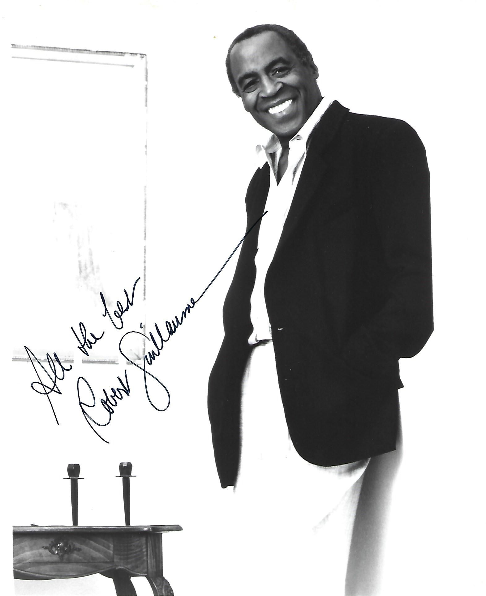 Robert Guillaume Signed photo black and white 10 x 8