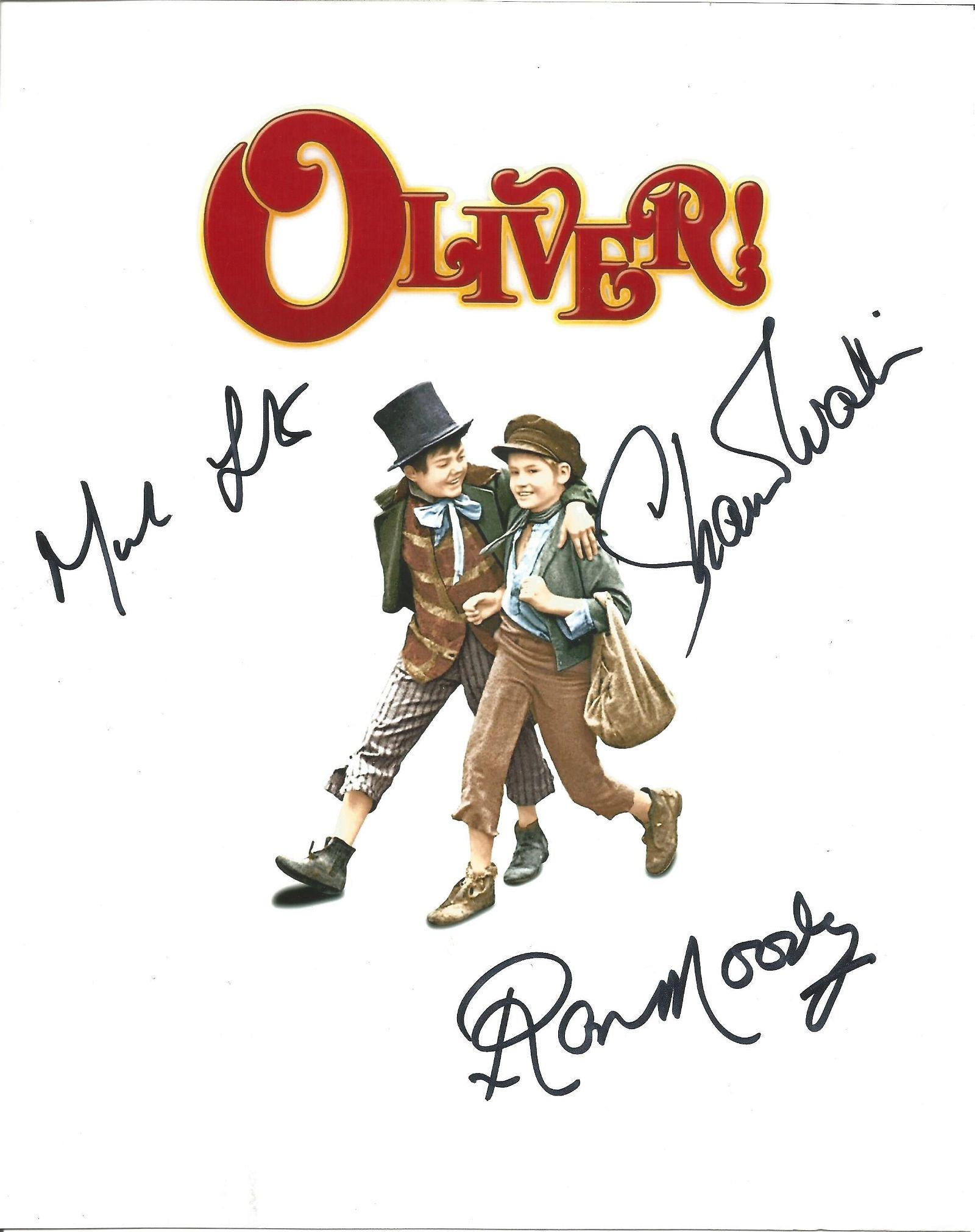 Oliver multi signed 10x8 colour photo signed by cast