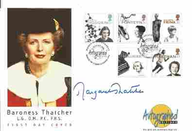 Margaret Thatcher Prime Minister Signed FDC. Featuring