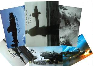 World War Two collection 6 assorted signed photos by