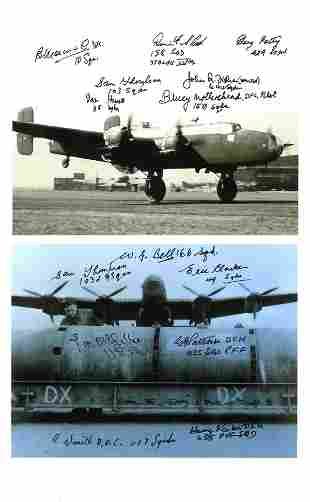 World War Two collection 2 multi signed 8x6 photos 14