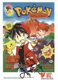 Veronica Taylor signed colour Pokemon promo card 6 x