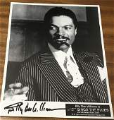 Billy Dee Williams Signed 10x8 Black And White Photo.