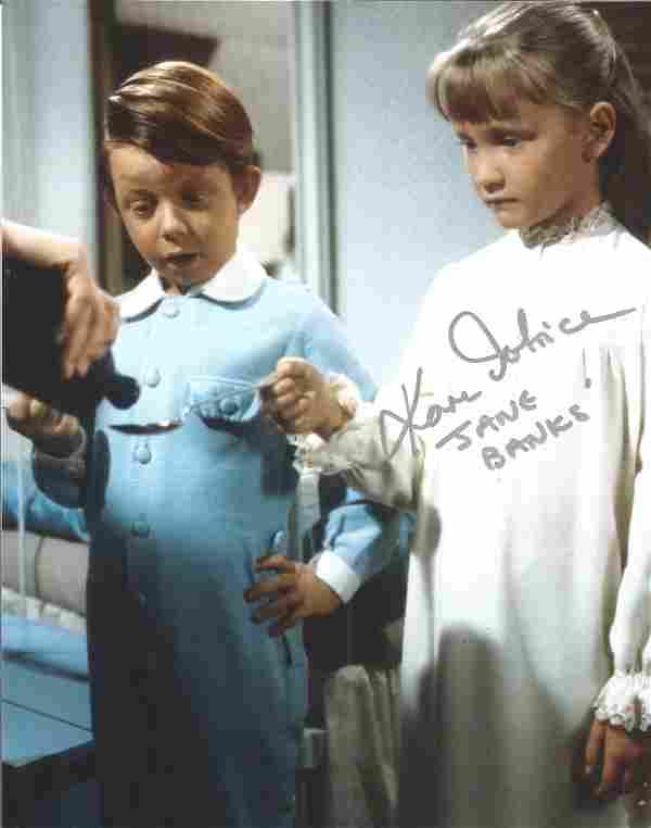 Karen Dotrice Mary Poppins Jane Banks signed colour