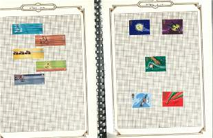 GB mint stamps hinged on album pages in Blue multiring