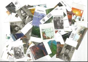 GB Mint stamps in bag values to £1. 12 unused. Face
