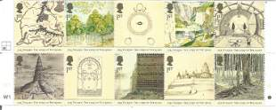 GB Mint JR Tolkien Lord of the Rings Mint stamps block