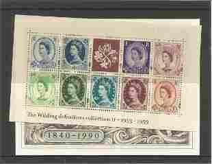 GB Mints stamps 1953 -1953 Wildings miniature sheet