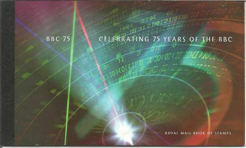 GB BBC 75th Anniversary Mint Stamp booklet all stamp