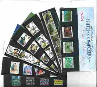GB Mint stamps twenty Presentation packs, inc. HRH