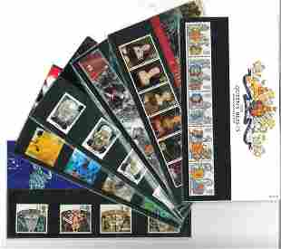 GB Mint stamps twenty Presentation packs, inc.