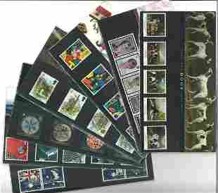 GB Mint stamps twenty Presentation packs, inc. Dogs,