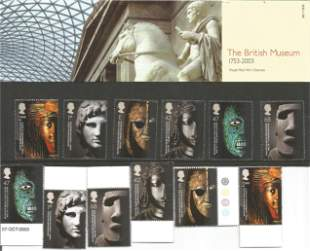 GB Mint stamps The British Museum 2003 presentation