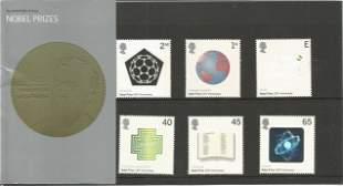 GB Mint stamps Nobel Prizes 2001 presentation pack