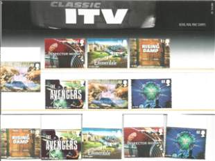 GB Mint stamps Classic ITV 2005 presentation pack
